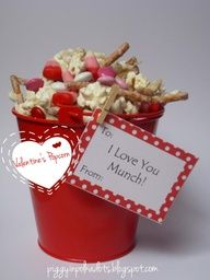 Lovely Popcorn- fun for a valentines after school snack