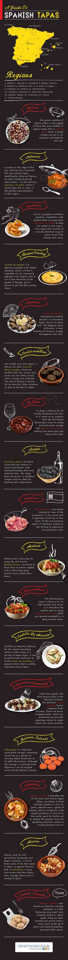 Ultimate Guide to Spanish Tapas Infographic #Infographics