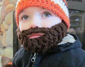 baby beard hat for Kai as a lumberjack for Halloween!