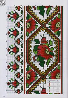 Gallery.ru / Фото #8 - 23 - logopedd Cross Stitch Geometric, Cross Stitch Borders, Cross Stitch Flowers, Cross Stitch Charts, Cross Stitch Designs, Cross Stitching, Cross Stitch Patterns, Folk Embroidery, Cross Stitch Embroidery