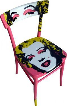 sedia dipinta Mailyn rosa