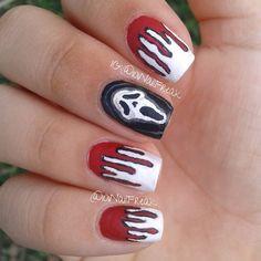 halloween scream by 101nailfreak  #nail #nails #nailart