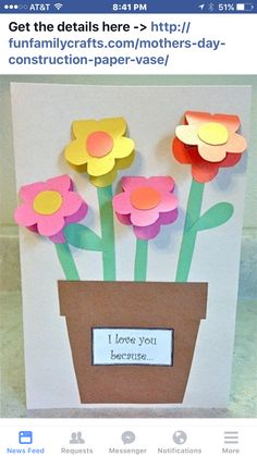 Mothers Day Construction Paper Vase