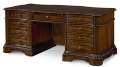Pemberleigh, Pemberleigh Executive Desk, Dining Room Table Sets, Bedroom Furniture, Curio Cabinets and Solid Wood Furniture - Model - Home Gallery Stores Furniture