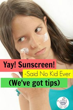 Use these sunscreen tips to help get your kids covered this summer!
