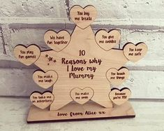 Personalised Home Decor & Gifts by HeavenlyBlueGifts Chic Nursery, Girl Nursery, Shabby Chic Shops, Wooden Roses, Family Tree Frame, Personalised Family Tree, Parents Anniversary, Flower Letters, Wooden Letters
