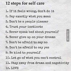 12 steps for self-care - 9GAG