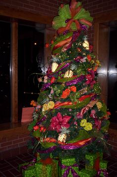 The Christmas Tree on display at the Georgia Visitor Information Center in Columbus. The tree is sponsored by Bulloch House/Warm Springs. The Columbus VIC is located on I-185.