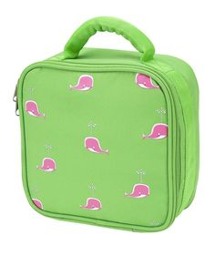 Pink Whale Girls Lunch Bag