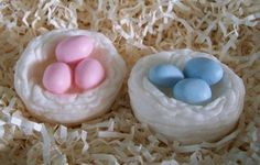 Birds Nest with Eggs Silicone Soap Mold Candle Mold by grandhorse