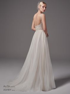 Wedding Dresses Ball Gown, Modest Tulle Spaghetti Straps Neckline A-Line Wedding Dress With Beaded Lace Appliques & Belt DressilyMe Spring 2017 Wedding Dresses, Dream Wedding Dresses, Bridal Dresses, Bridal Gown, Wedding Bodysuit, Sottero And Midgley Wedding Dresses, Sottero Midgley, Bridal Separates, Designer Wedding Gowns
