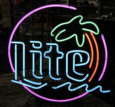 Do you like this Vintage Neon #MillerLite Sign w/ 5 Colors!?