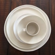 Handgefertigte Porzellan Geschirr Set weiße von tqdceramics auf Etsy
