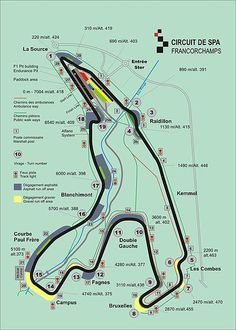 Spa Francorchamps, a great race track with a long history. Slot Car Racing, Slot Car Tracks, F1 Racing, Slot Cars, Road Racing, Race Cars, Race Tracks, Nascar, Michael Schumacher