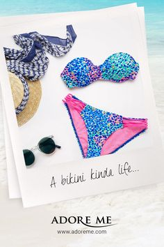 Warmer days ahead. | Get summer-ready with Adore Me's new Swim Collection ♥ #bikini #swimsuit #swimwear