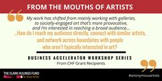 Your #art career is constantly evolving, how do you reach new #audiences? http://clarkhulingsfund.org/accelerator/ #anonymousartists