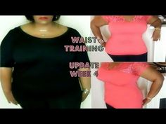 WAIST TRAINING WEEK 8 UPDATE Before & After Video Body Shots - YouTube