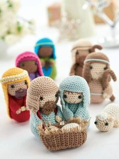 Patrones de Belén en ganchillo - Free Crochet Nativity Scene Pattern