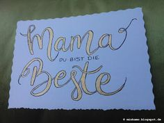 Hand Lettering | Karte zum Muttertag ~ Card for Mother's Day