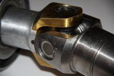 Ti-N coating on titanium propshaft.