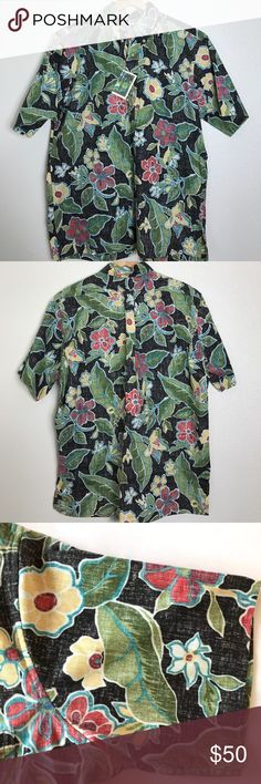 "Reyn Spooner Hawaiian Floral shirt L New with tags. Measurements Bust armpit to armpit 26"" Length 30"" reyn spooner Shirts Casual Button Down Shirts"