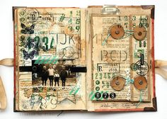 Pathfinder - travelling family album - envelope by finnabair, via Flickr