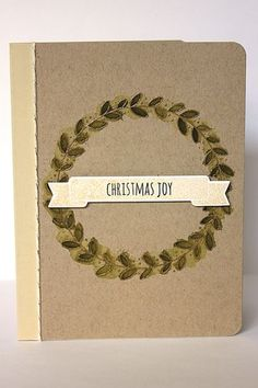 Christmas Joy Card by Heather Nichols for Papertrey Ink (October 2013)