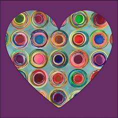 One of those days that you just feel the #love #creating #geometric #geometricart #carlabankart #hearts #loveart #artnews #artfair