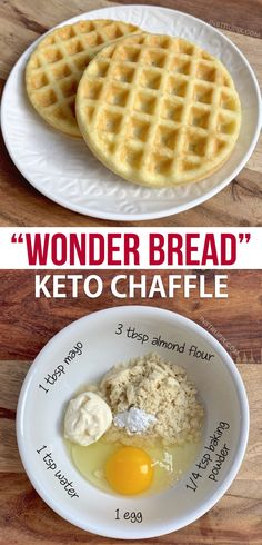 Wonder Bread Keto Chaffle Recipe-- Quick, easy and made in your mini waffle maker! This keto sandwich bread recipe is made with just mayo, almond flour, an egg and baking powder. Just like soft white bread but keto, low carb and guilt-free. Waffle Bread Recipe, Waffle Maker Recipes, Sandwich Bread Recipes, Keto Waffle, Waffle Sandwich, Waffle Iron, Keto Desserts, Keto Snacks, Dessert Recipes