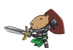 Capirreira A Capivara Guerreira Collage, Cute, Animals, Fictional Characters, Esquire, Capybara, Design Inspiration, Rpg, Drawings