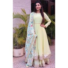 Beautiful Nimrat khaira in our label ❤️ Party Wear Indian Dresses, Designer Party Wear Dresses, Kurti Designs Party Wear, Dress Indian Style, Indian Wedding Outfits, Indian Outfits, Indian Wear, Indian Attire, Stylish Dress Designs