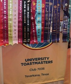 University Toastmasters- club 7036 located in Texarkana, Texas U.S.A. Thank you to Manhal Shukayr for the banner picture.