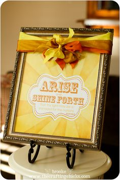 """2012 YW Theme Poster """"Arise and Shine Forth"""" scripture--this would be cute to print out and have in the Young Women's room at church or for them to put in their rooms or lockers...maybe I'll put this in their back to school gift with a magnet on the back so they could put it in their lockers?"""