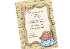 Printable  Personalized Tea Party Invitation Digital by sssstudio,  ETSY