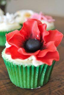 Cupcakes de Flores + Receta Cupcakes de Vainilla | Sucre