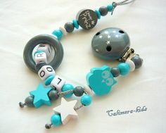 Schnullerketten - Schnullerkette Junge - ein Designerstück von Calimera-kids bei DaWanda