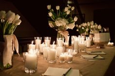 Wedding Candles for table settings