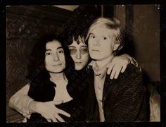 Three awesome people - Yoko, Lennon, Warhol.