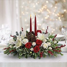 Christmas Wishes Centerpiece Bouquet