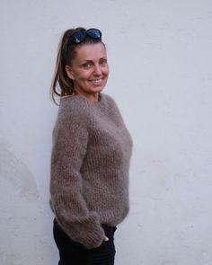 Genser med puff Da er endelig mønsteret til genser med puff