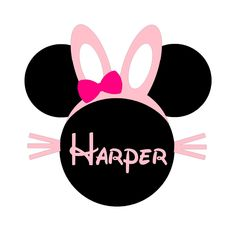 Minnie Mouse Easter Egg Instant Download Digital Clip Art