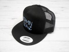 Vitamin Sea Hat. Snapback Cap. Summer Beach Hat. Flat Bill Hat. Retro 9bd436ae88e9