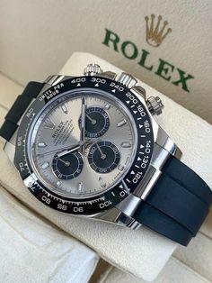Rolex Watches For Men, Best Watches For Men, Luxury Watches For Men, Cool Watches, Stylish Watches For Men, Gents Watches, Rolex Daytona Black, Rolex Daytona Watch, Black Rolex