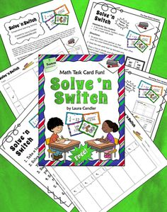Classroom Freebies: Laura Candler's Solve 'n Switch Freebie