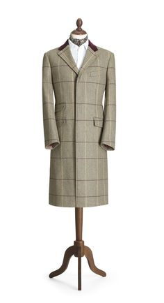 'Glen' Check Overcoat - Crombie A change from ivy style.moving into English territory Men's Fashion, Fashion Outfits, Fashion Design, Coat Styles, Mens Overcoat, Ivy Style, Advanced Style, Men Formal, Men's Outerwear