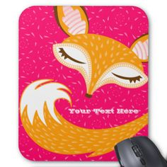 "A whimsical sleeping fox makes this a truly adorable mouse pad! Edit with your own name or message for a perfectly personalized mouse pad for your home, business or to give as a truly unique gift {{Click ""CUSTOMIZE"" to change background color, text color, font and for more editing options}} #cute #mousepad #mouse #mat #stylish #trendy #fox #foxes #gift #for #her #sleepy #fun #vector #illustration #girly #mousemat #mouse #pad #office #desk #business #student #tween #teen #pretty #feminine ..."