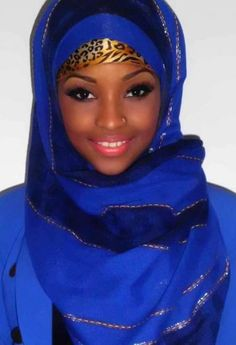 Hijab is not a way of expressing beauty and highlight you face features. Hijab is a symbol of modest My Black Is Beautiful, Beautiful Hijab, Beautiful Eyes, Beautiful People, Beautiful Women, Simply Beautiful, African Beauty, African Women, African Fashion