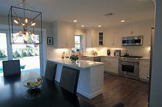 Crisp White Inset Simplicity - Piermont, NY #kitchendesign #kitchen #kitchencabinets #cabinetry #bathvanity #vanities #customkitchen #design