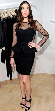 Liv Tyler paired a Fall 2012 #peplum top with a slinky pencil skirt, compliments of the Stella McCartney runway two-piece.