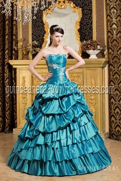 Strapless Blue Morden Quinceanera Dresses 2012 2157 on quinceanera-gown-dresses.com  $:193.00(25% Off)  Occasions: Quinceanear party,sweet 16,Bar Mitzvah  Silhouette: A-line  Neckline: Strapless  Style: Corset back  Fabric:Organza+Lace  Season: pring,Summer,Winter,autumn  Color: Ivory,white,Other color Please Inquire Us!  Sleeve Length: Sleeveless  Length: Floor Length  This style Blue quinceanera dresses from: http://www.quinceanera-gown-dresses.com/Blue-quinceanera-dresses-color-2.html